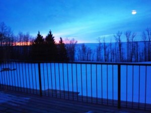 Looking-over-lake-from-lodge-on-a-winter-evening
